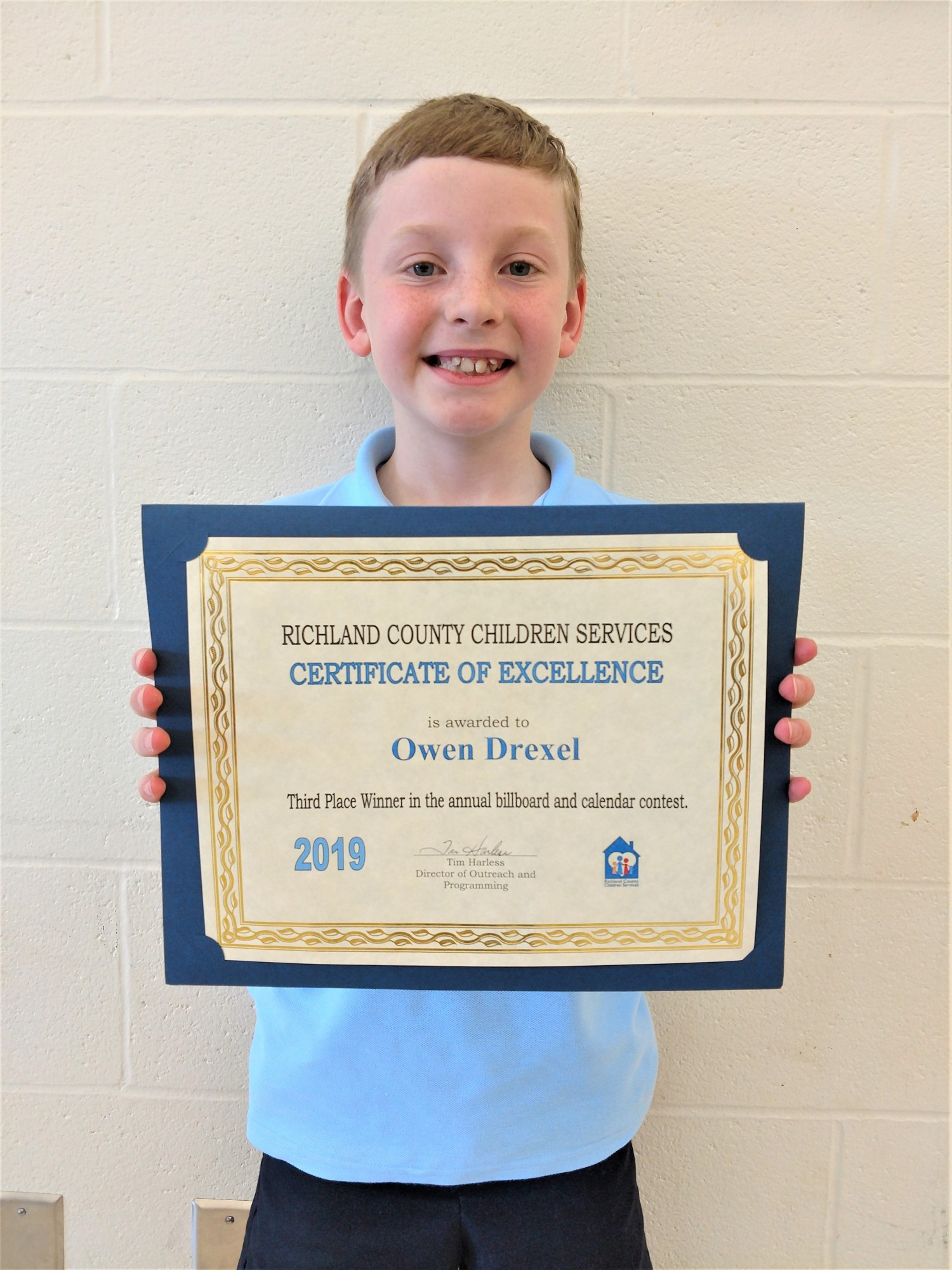 Drexel 2020 Calendar Mansfield Christian student wins third place honor in agency