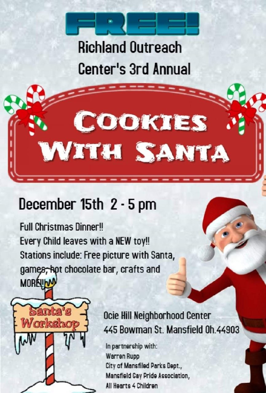 Cookies With Santa December 15 Richland County Children Services
