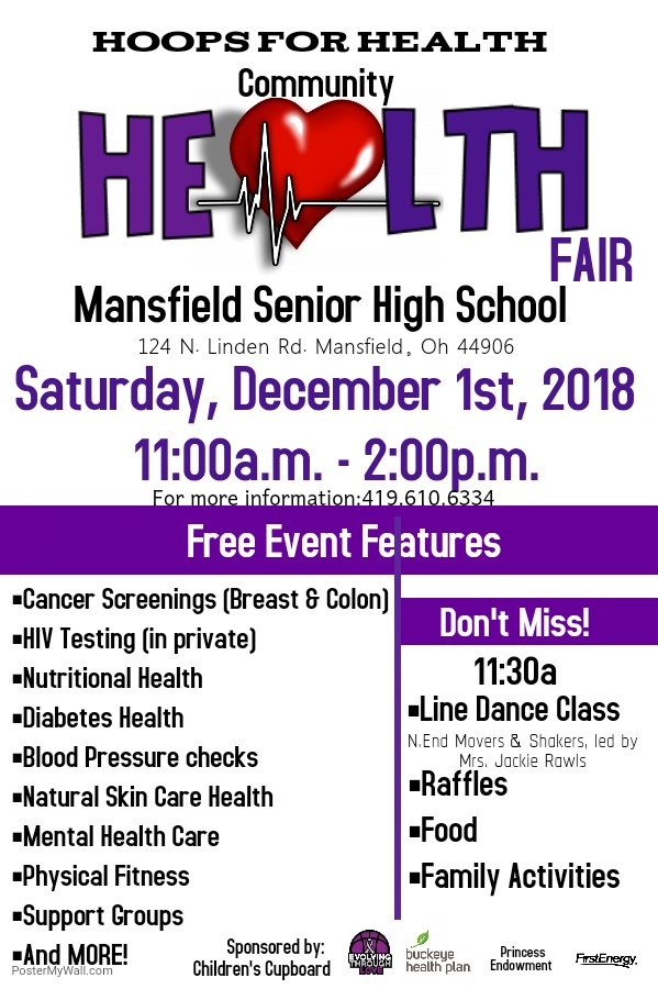 Hoops for Health Community Health Fair Saturday, Dec. 1