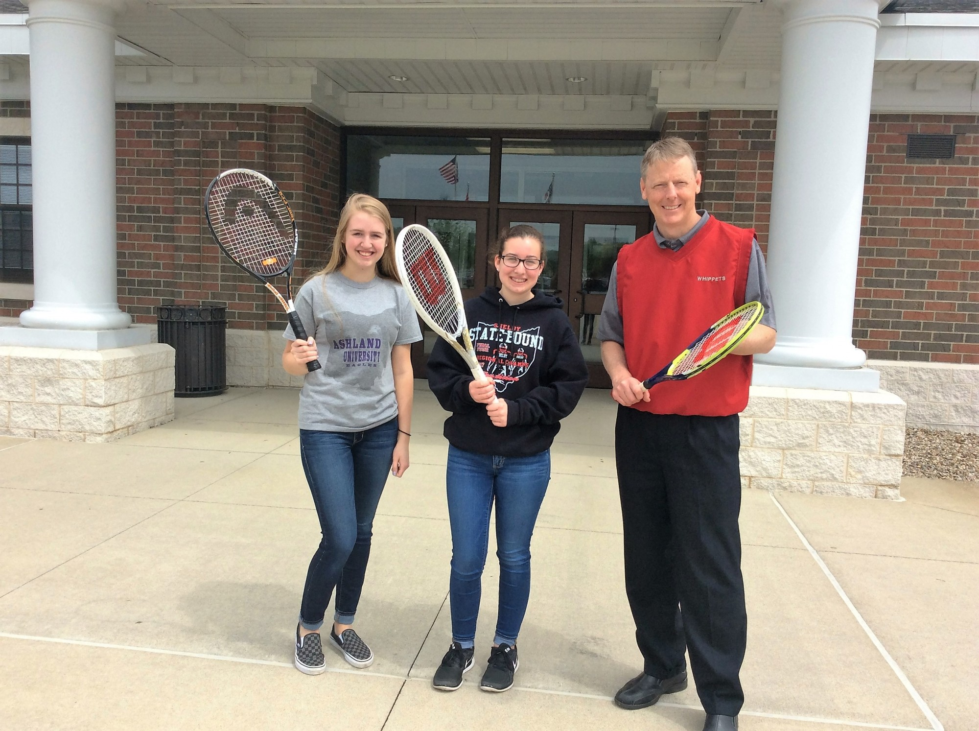 RCCS donates tennis racquets and fishing poles to youth programs
